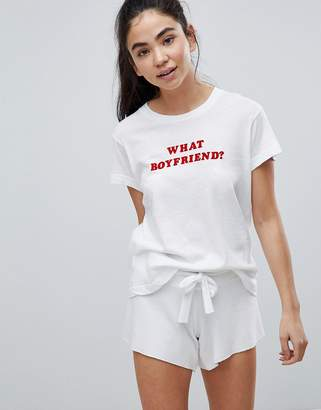 Wildfox Couture Valentines What Boyfriend Lounge T-Shirt