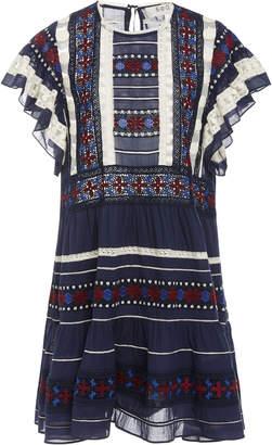 Sea Ila Lace Short Sleeve Casual Tunic Dress