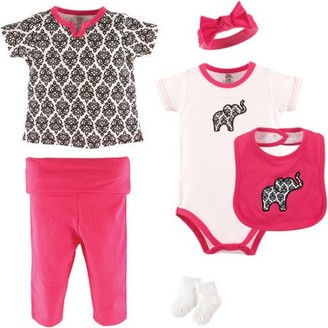 Yoga Sprout Baby Girl Layette Set, 6-Piece