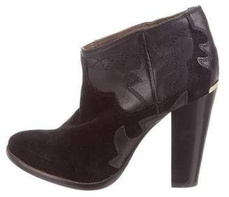 Just Cavalli Suede Ankle Boots
