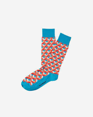 Express Geometric Print Dress Socks