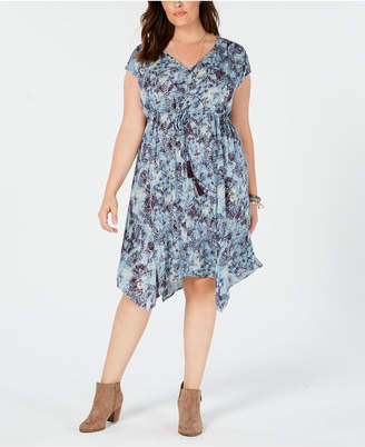 Style&Co. Style & Co Plus Size Printed A-Line Dress, Crated for Macy's