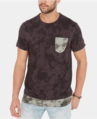 Buffalo David Bitton Men Katop Layered-Look Camouflage Pocket T-Shirt
