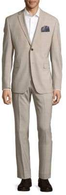 Original Penguin Check Classic-Fit Wool Blend Suit