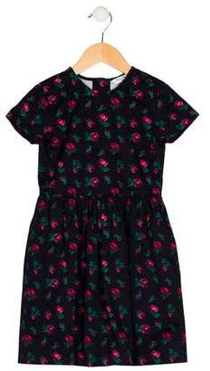 Brooks Brothers Girls' Floral Print A-Line Dress