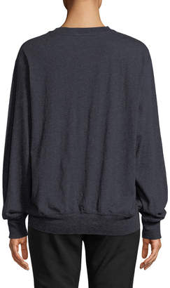 Vince Alpaca-Blend Crewneck Pullover Top