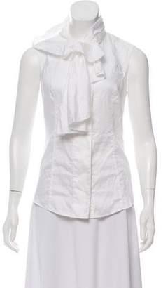 Diane von Furstenberg Sleeveless Top Button-Up