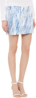 Kenzo Sequin Waves Mini Skirt-Blue