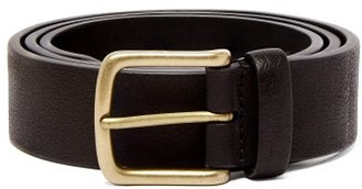 Andersons Anderson's - Pebbled Leather Belt - Mens - Black