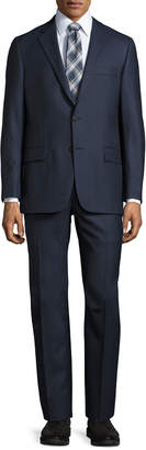 Hickey Freeman Classic-Fit Two-Button Suit, Blue