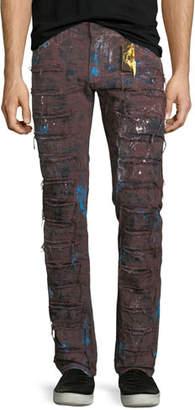 Robin's Jeans Super Distressed Denim Jeans