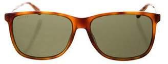Gucci Square Tortoiseshell Sunglasses w/ Tags
