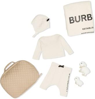 Burberry logo print six-piece baby gift set