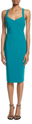 LIKELY Alexia Cross-Back V-Neck Midi Dress