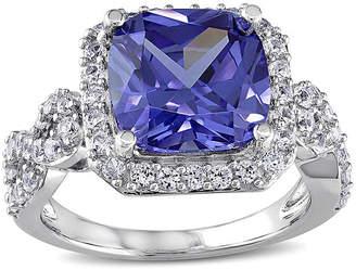FINE JEWELRY Cushion-Cut Lab Created Tanzanite and White Sapphire Ring