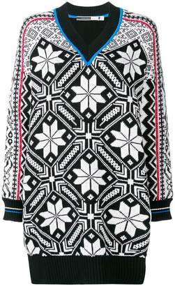 Sportmax Code intarsia knitted dress