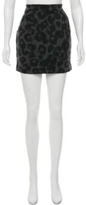MICHAEL Michael Kors Animal Print Mini Skirt Black Animal Print Mini Skirt