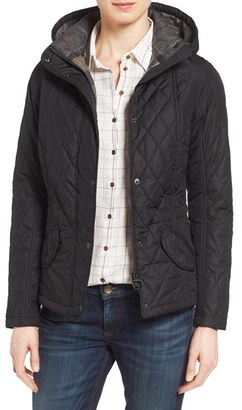 Women's Barbour 'Millfire' Hooded Quilted Jacket $249 thestylecure.com