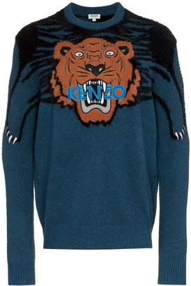 Kenzo large tiger intarsia jumper