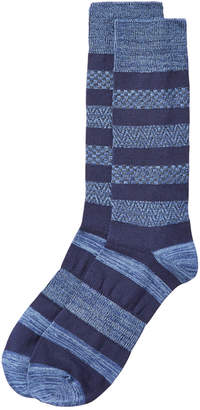 Perry Ellis Men's Colorblocked Socks