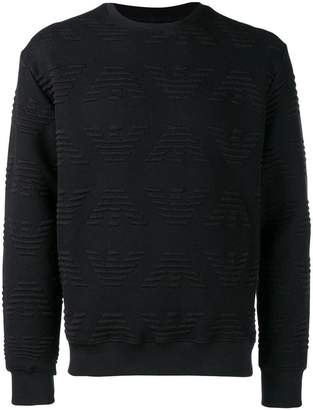 Emporio Armani all over logo sweatshirt