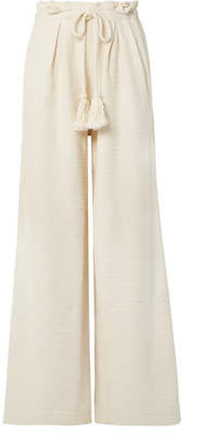 Ulla Johnson Ayana Cotton-terry Wide-leg Pants - Ivory