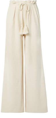 Ulla Johnson Ayana Cotton-terry Wide-leg Pants - Ivory