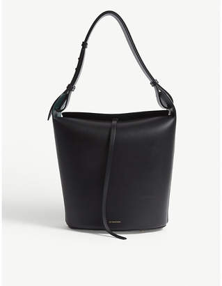 Burberry Ladies Black Modern Leather Bucket Bag