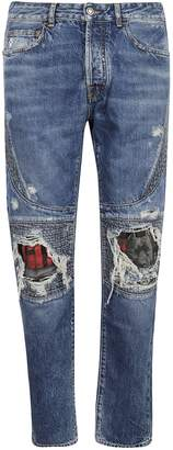 Marcelo Burlon County of Milan Distressed Detail Jeans