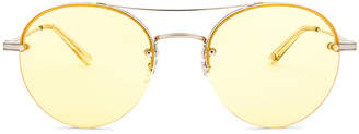 Garrett Leight Beaumont 53 in Brushed Silver & Shooter Yellow | FWRD