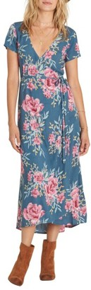 Women's Billabong Wrap Me Up Floral Print Wrap Dress $64.95 thestylecure.com