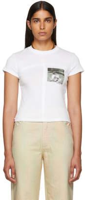 Eckhaus Latta White Lapped Baby T-Shirt