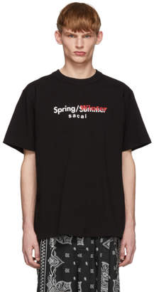 Sacai Black Printed T-Shirt