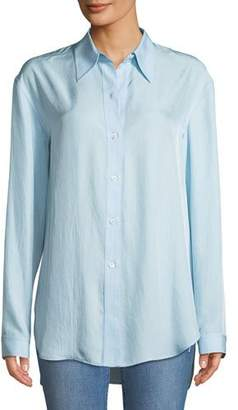 Theory Weekender Long-Sleeve Button-Down Washed Twill Shirt
