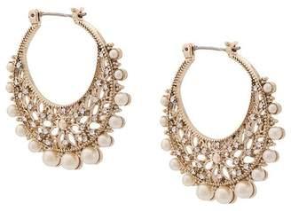 Marchesa pearl embellished hoop earrings