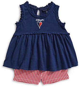 Tommy Hilfiger Sleeveless Top and Striped Shorts Set