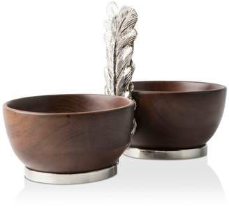 Juliska Merriam Wood 2-Bowl Server