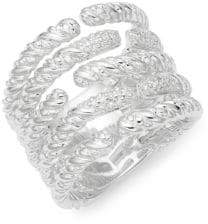 Effy 925 Sterling Silver & Diamond Open Ring