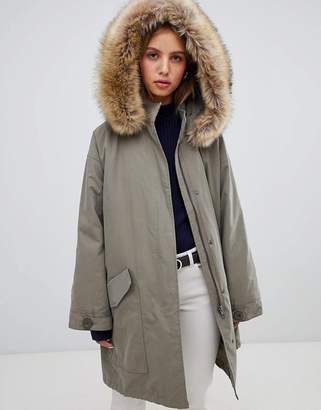 Asos Design DESIGN oversized parka with padded liner