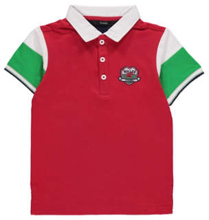 George Red Wales Short Sleeve Polo Shirt