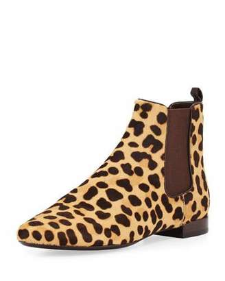 Tory Burch Orsay Calf-Hair Chelsea Boot, Leopard/Coconut $450 thestylecure.com