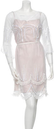 Alice by Temperley Mesh Overlay Ruffled Dress $125 thestylecure.com