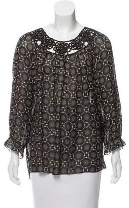 Anna Sui Printed Silk Top