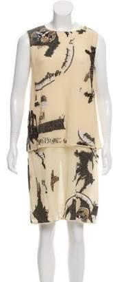 Ralph Rucci Beaded Silk Dress w/ Tags