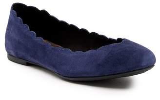 Børn Allie Scalloped Ballet Leather Flat
