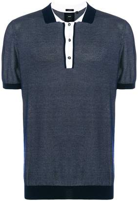 HUGO BOSS contrast detail polo shirt