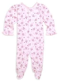 Kissy Kissy Baby Girl's Cherry On Top-Print Cotton Footie