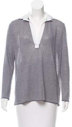 Amina Rubinacci Striped Linen Top