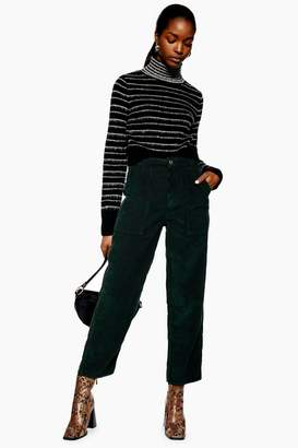 Topshop High Waisted Corduroy Trousers