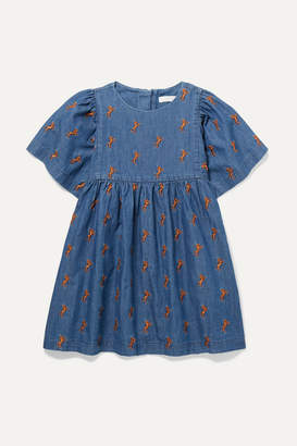 d1e8a94dafb012 Chloé Kids - Ages 2 - 5 Embroidered Cotton-chambray Dress